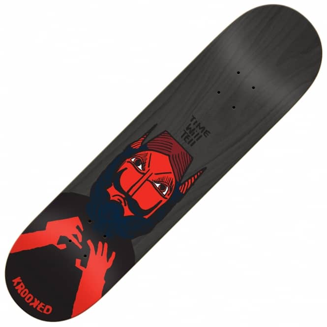 Krooked Skateboards Time Will Tell Skateboard Deck 8.75