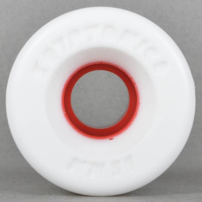 Kryptonics Star Trac White/Red 91A Skateboard Wheels 55mm