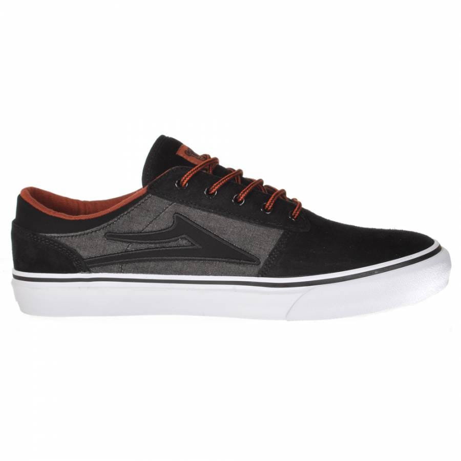lakai lakai skate shoes black grey suede lakai