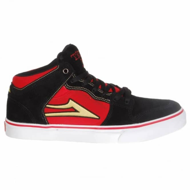 Lakai Lakai Carroll Select (Trunk Boyz) Skate Shoes - Black/Red Suede