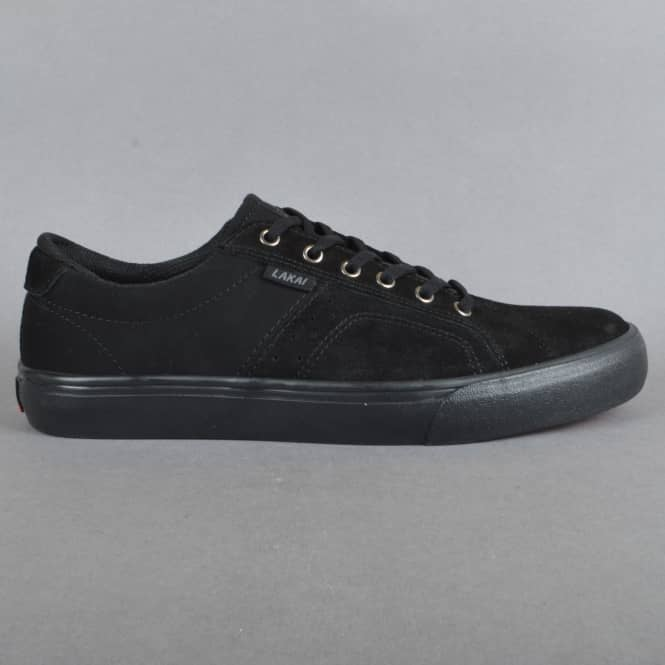 Lakai Flaco Skate Shoes - Black/Black Suede