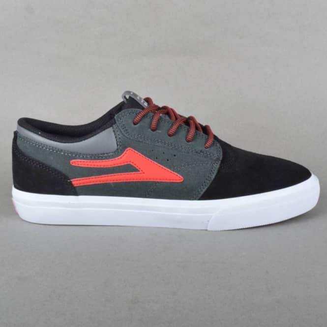 Lakai Griffin Chocolate 20 Year Skate Shoes - Black/Grey Suede