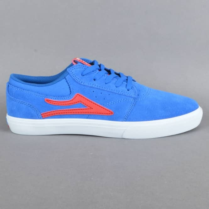 Lakai Griffin Kids Skate Shoes - Royal Suede