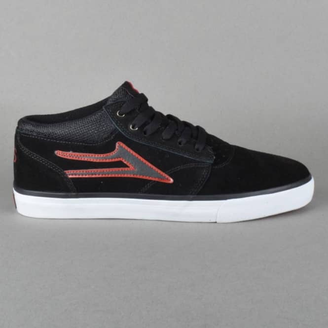 Lakai Griffin Mid Van Styles Skate Shoes - Black Suede