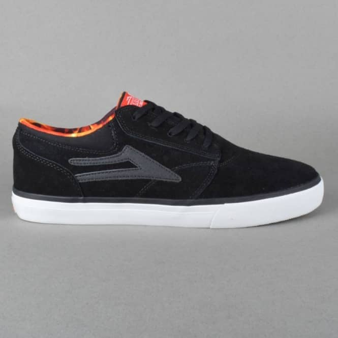 Lakai Griffin Skate Shoes - Black Suede Spitfire