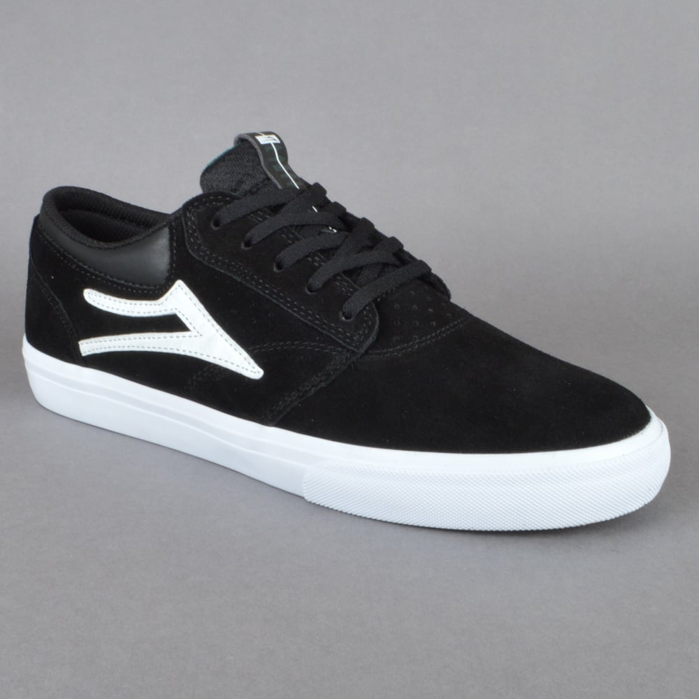 Griffin Skate Shoes - Black/White Suede