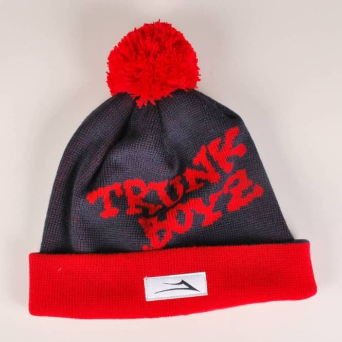 Lakai Lakai Flaco Bobble Beanie - Navy/Red