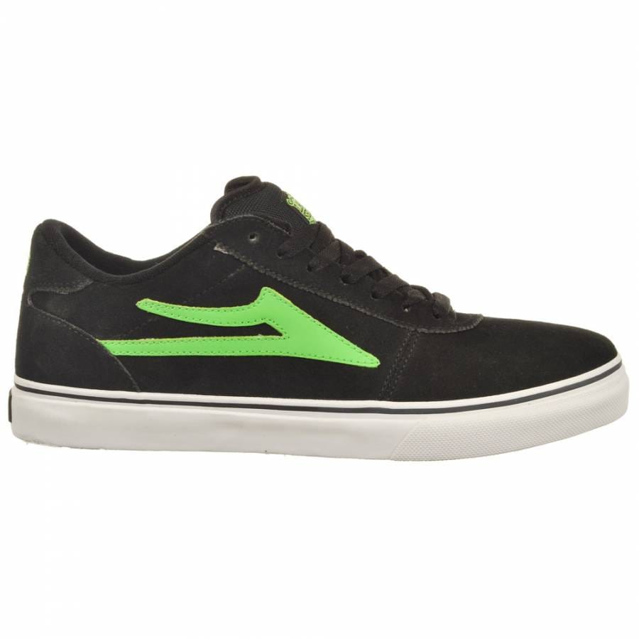 lakai lakai manchester select black lime suede skate shoes