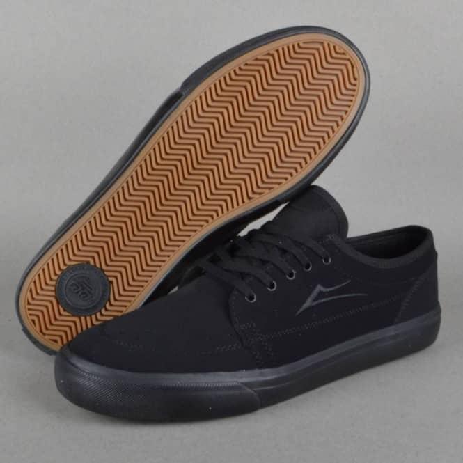 Lakai Madison Skate Shoes - Black/Black
