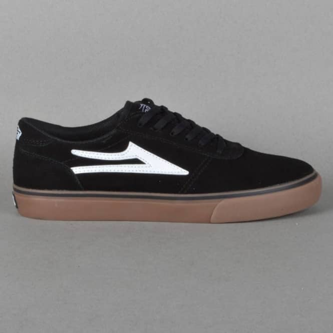 Lakai Manchester Skate Shoes - Black/Gum