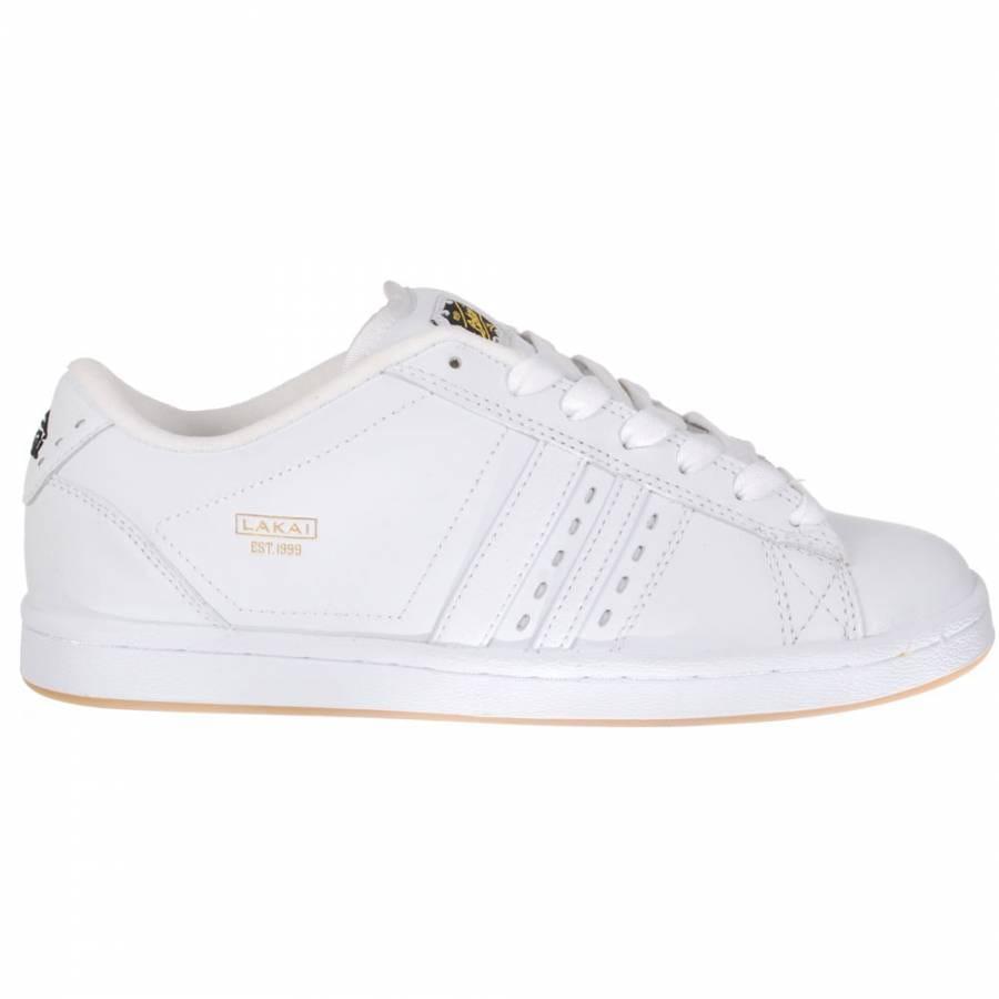 lakai lakai mj 3 skate shoe white gum leather lakai