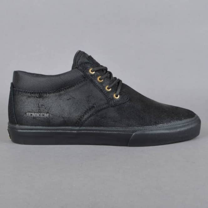 Lakai MJ Mid Jenkem Skate Shoes - Black/Black Suede