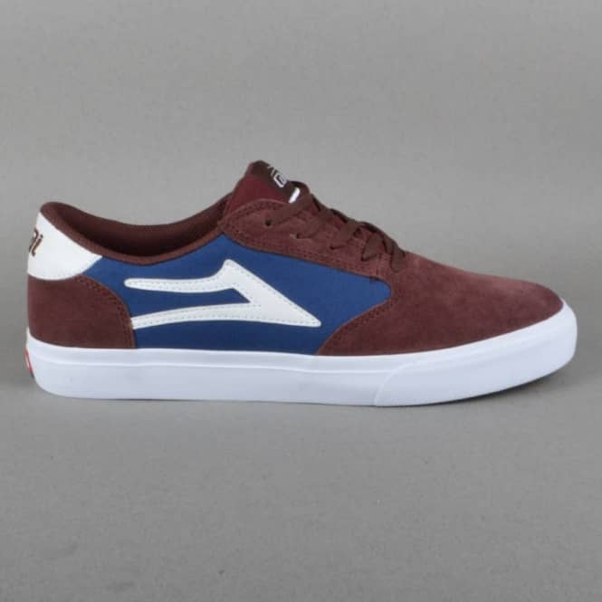 Lakai Pico Skate Shoes - Burgundy Suede