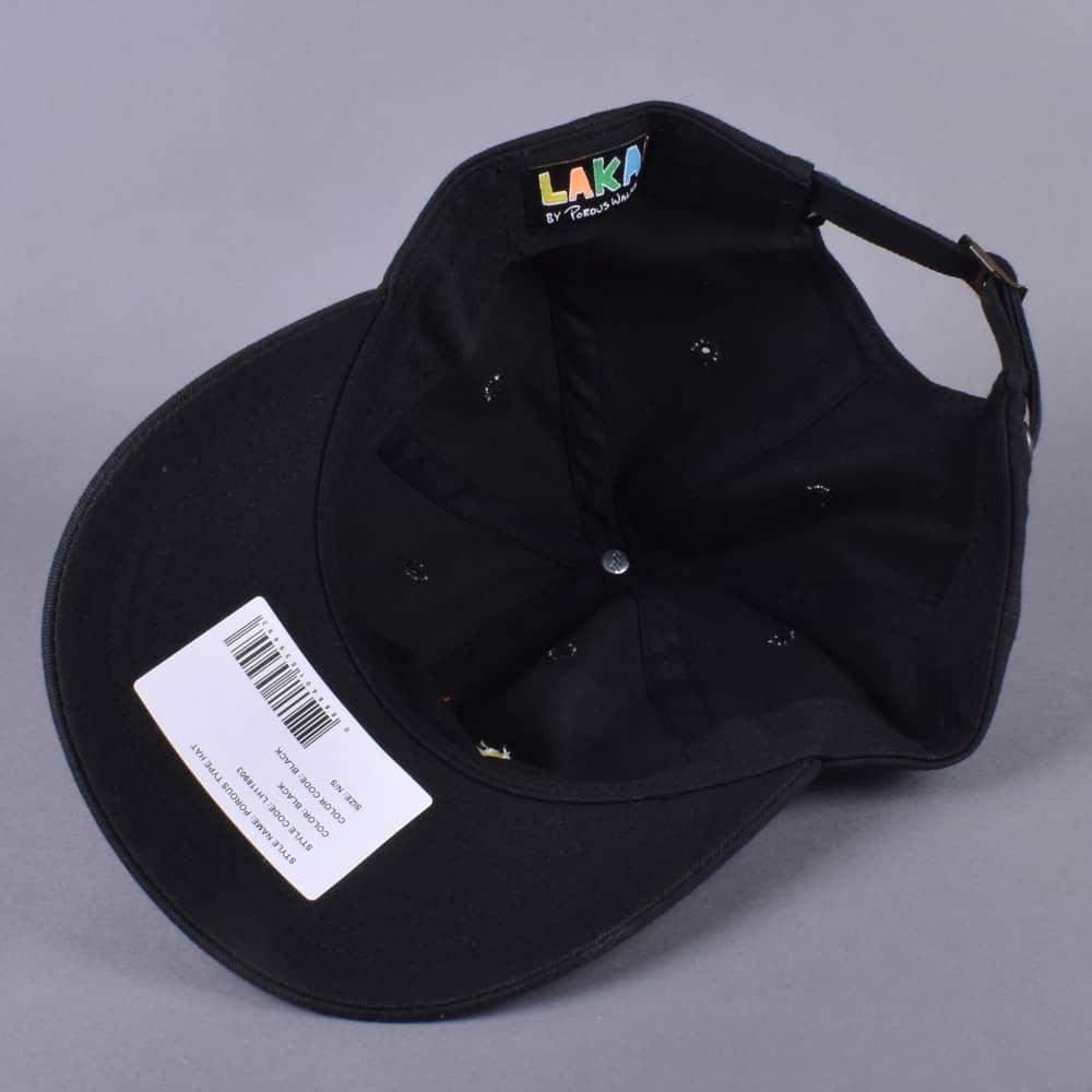 Lakai Porous Type Dad Cap - Black - SKATE CLOTHING from Native Skate ... 0ce6a09fe607