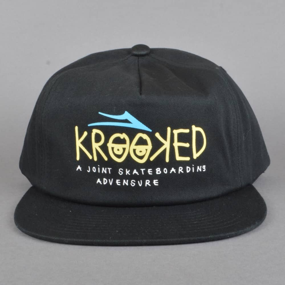 73d77a8925a Lakai x Krooked Snapback Cap - Black - SKATE CLOTHING from Native ...