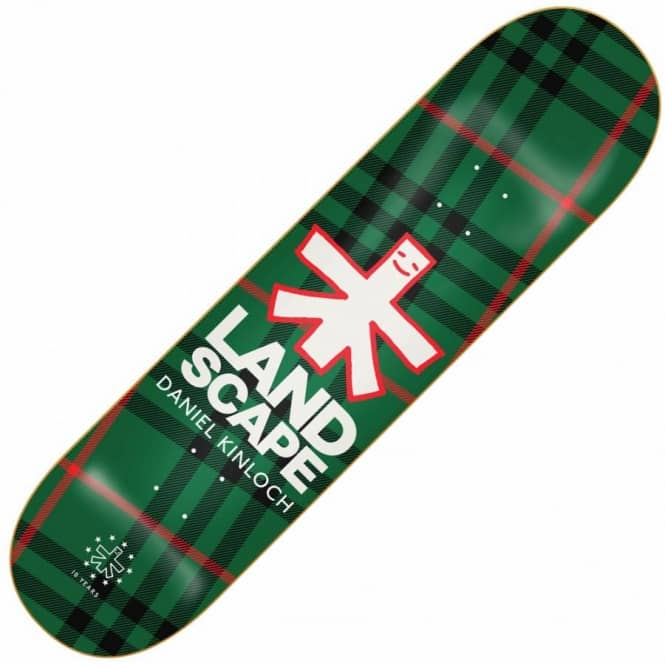 Landscape Skateboards Daniel Kinloch Plaid Skateboard Deck 8.0''