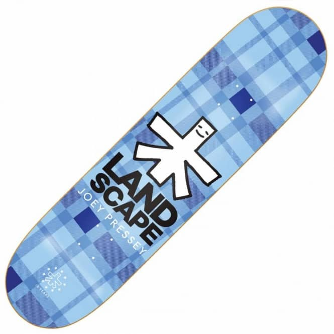 Landscape Skateboards Joey Pressey Plaid Skateboard Deck 8.125''