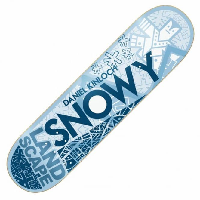 Landscape Skateboards Snowy Fragments Skateboard Deck 8.125''