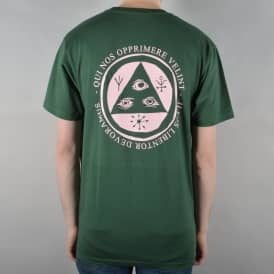 Welcome Skateboards Latin Talisman Skate T-Shirt - Forest Green