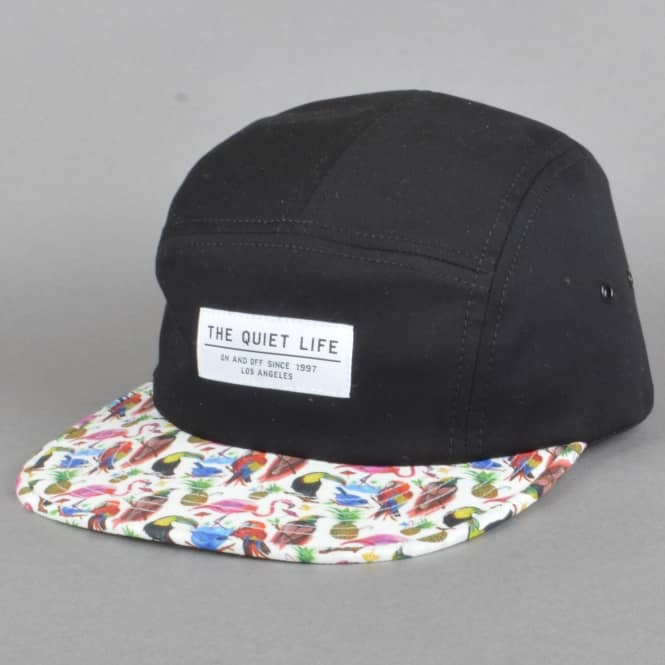 The Quiet Life Liberty Birds of Paradise 5 Panel Cap - Black Upper