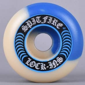 Spitfire Wheels Lock-Ins 50/50 Swirl Cobalt Blue/Natural 99D Formula Four Skateboard Wheels 52mm