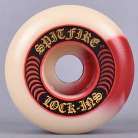Lock-Ins 50/50 Swirl Fire Red/Natural 101D Formula Four Skateboard Wheels 53mm