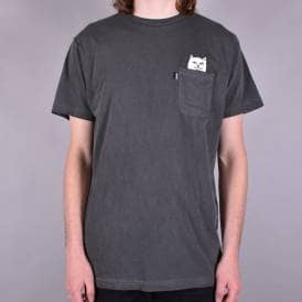 Lord Nermal Overdyed Pocket T-Shirt - Black