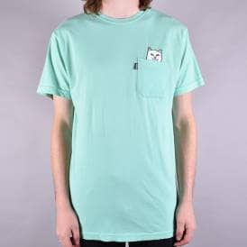 Lord Nermal Overdyed Pocket T-Shirt - Mint Green