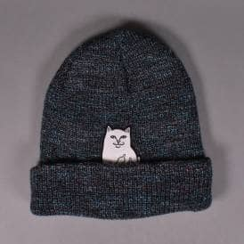 6ba2bc98cc5 Lord Nermal Ribbed Beanie - Blue Speckle