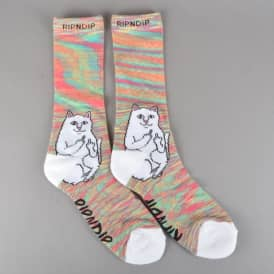 Lord Nermal Socks - Neon