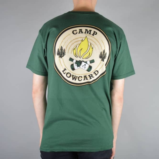 Lowcard Camp Staff Skate T-Shirt - Forest Green