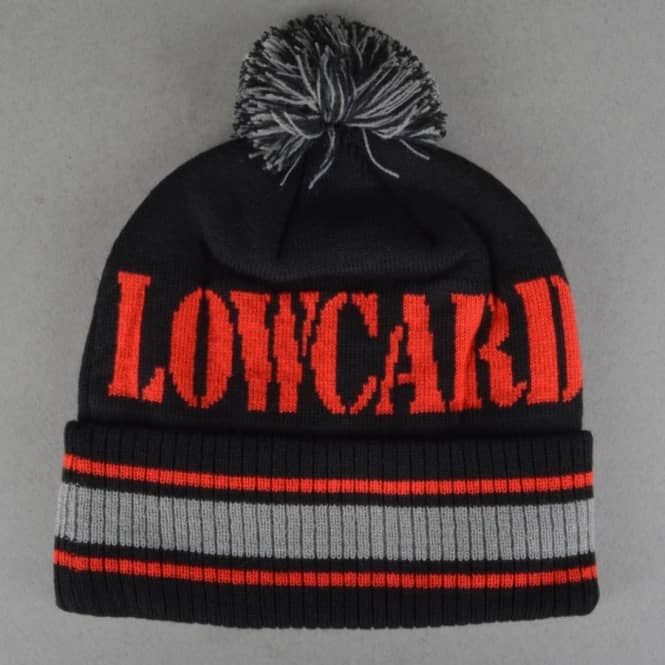 Lowcard The Blizzard Beanie - Black/Red/Grey