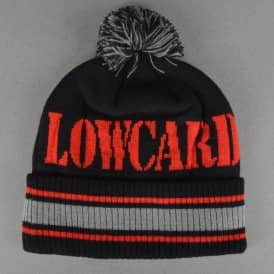 The Blizzard Beanie - Black/Red/Grey