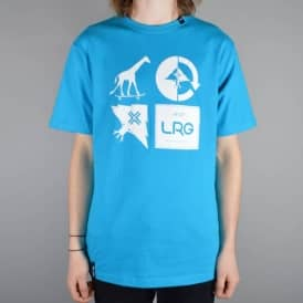 LRG RC Logo Mash Up T-Shirt - Electric Blue