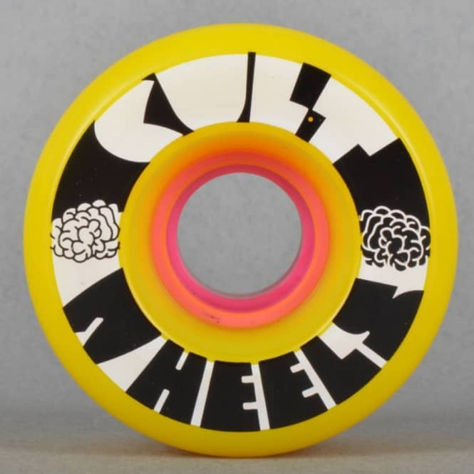 Lush Longboards Cult IST Yellow 80A Skateboard Wheels 63mm