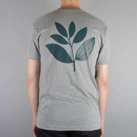 Classic Plant Skate T-Shirt - Heather Grey/Pine Green