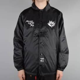 Magenta Styles Windbreaker Jacket - Black