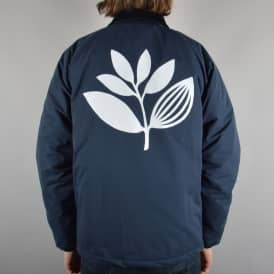 Plant Quilted Windbreaker Jacket - Navy/White