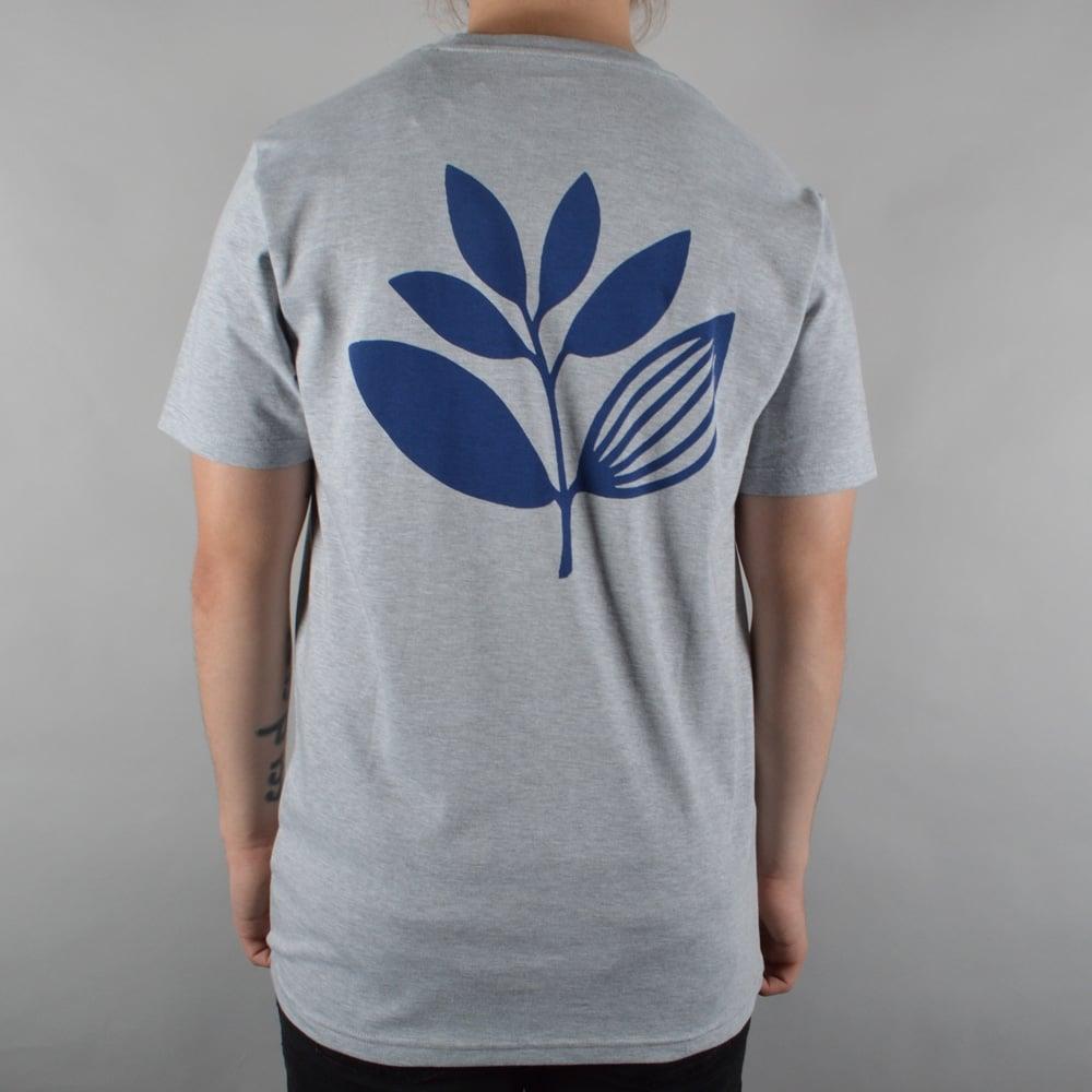 Plant Skate T-Shirt - Heather Grey/Navy