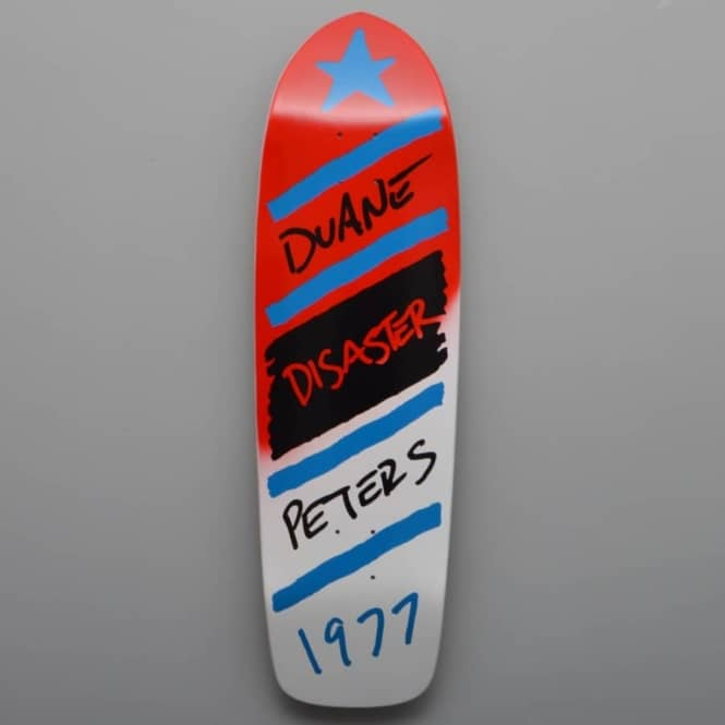 Magic Skateboards Duane Peters Disaster (Red/White) Skateboard deck 9.5