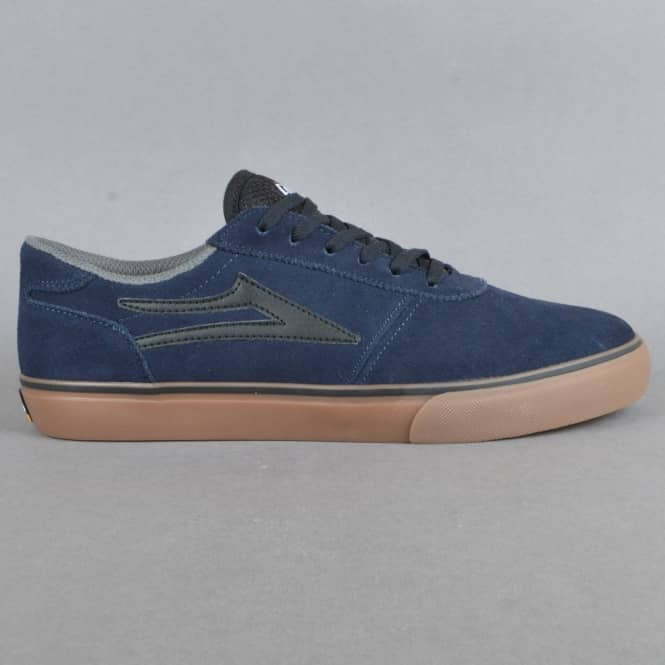 Lakai Manchester Skate Shoes - Navy/Gum Suede