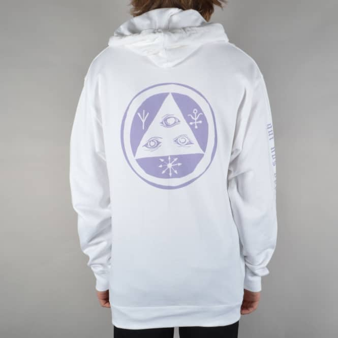 Welcome Skateboards Mantra Pullover Hoodie - White