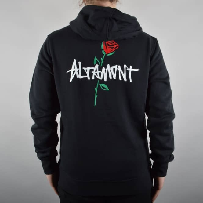 Altamont Mashed Zip Hood - Black