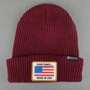 Matix Clothing Sometimes Beanie - Blood Red