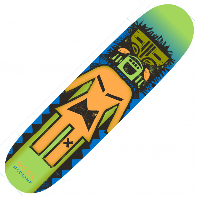 Girl Skateboards McCrank Tiki OG Skateboard Deck 8.5''