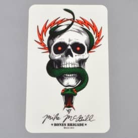 McGill Skull And Snake Skateboard Sticker - 6