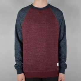 Meridian Block Crewneck Sweater - Napa Red