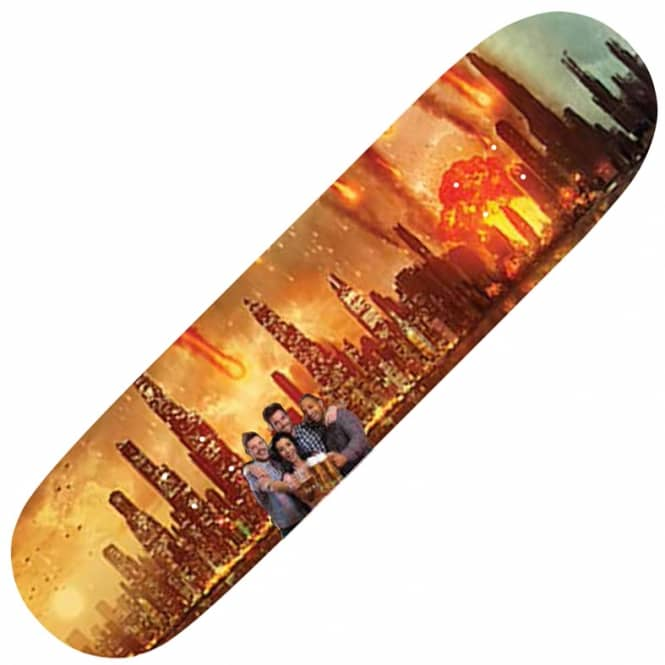 Alltimers Meteors Chilling In Disasters Skateboard Deck 8.25
