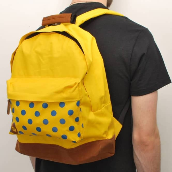 MiPac Backpacks Mi-Pac Classic Polka Dot Backpack - Yellow