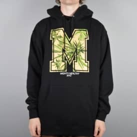 Mighty Healthy M Leaf Pullover Hoodie - Black